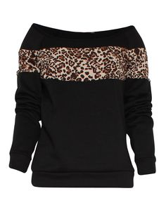 Leopard Print Panelled Sweatshirt in Black £ 12.95 #chiarafashion Leopard Print Panelled Sweatshirt in Black £ 12.95  Keep warm this winter with our soft black jumper. The lovely leopard print strip is great for all you animal lovers out there. Style up the jumper with ripped jeans and black boots to stay bang on trend.