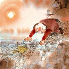 The golden fish - Illustration by Donata Dal Molin  #reading #stories #ilgufo