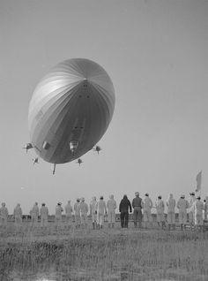 The Hindenburg before she blew up in Lakehurst N.J