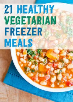 21 Healthy And Delicious Freezer Meals With No Meat from Buzzfeed. Want to cook them all right now! Delish...