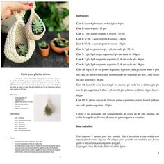 Cute Crochet, Crochet Home, Knit Crochet, Crochet Motifs, Crochet Patterns, Crochet Basket Pattern, Chrochet, Hanging Baskets, Crochet Projects