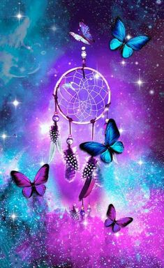 205 best dream catcher wallpaper ❤ images in 2019 Neon Wallpaper, Butterfly Wallpaper, Cute Wallpaper Backgrounds, Pretty Wallpapers, Wallpaper Iphone Cute, Colorful Wallpaper, Cellphone Wallpaper, Disney Wallpaper, Dream Catcher Wallpaper Iphone