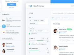 Dribbble - Hubstaff directory search by Adrian Goia