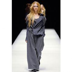 新品!ヨウジヤマモトファムYohji Yamamoto FEMME ウールナイロン縮絨 燕尾ステッチデザインジャケット グレー1 #YOHJIYAMAMOTO