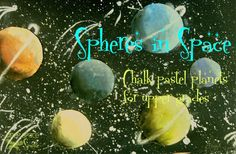 Spheres in Space...a very cool art lesson on shading and creating depth in a shape.