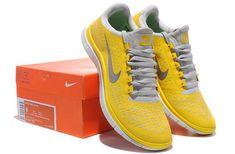 timeless design 62048 f2aa0 Nike Free 3.0 V4 Mens Original Lemon Charm Yellow Silver Pure Platinum  511457 700 Running Shoes