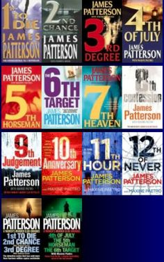 Author: James Patterson / Women's Murder Club Series... these books are great and keep you on the edge of your seat! (have; yet to read)