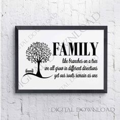 Family Tree Quote SVG Saying Download  Vinyl Design Home