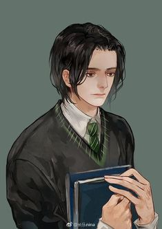 Fanart by on Weibo Female Harry Potter, Arte Do Harry Potter, Harry Potter Artwork, Harry Potter Severus Snape, Severus Rogue, Slytherin Harry Potter, Harry Potter Anime, Harry Potter Facts, Harry Potter Fan Art