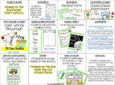 Pocket Full of Kinders!: Kindergarten Literacy Center Plans