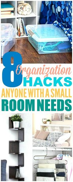These 8 Bedroom Organization hacks are THE BEST! I'm so happy I found these GREAT organization ideas for the home! Now I have some organization bedroom tips and I can make my bedroom feel a lot bigger! Definitely pinning! #organization #bedroomorganization #organizationhacks