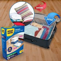 Best Smart Saver Vacuum Storage Bags helps to store more Clothes, Quilts, Blanket and more. Must have Space Saver Bags