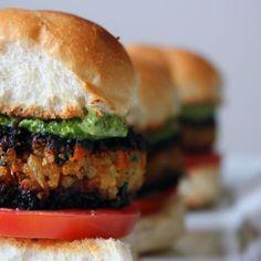 Veggie Masala Burgers with Cilantro Chutney Aioli Recipe on Food52 recipe on Food52