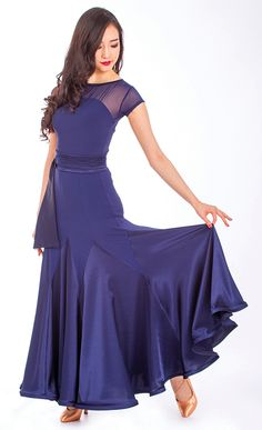 Beautiful Dance Dress with Godet Inserts perfect for Ballroom Dancing. Ballroom Costumes, Ballroom Dance Dresses, Dance Costumes, Ballroom Dancing, Tango Dress, Edwardian Dress, Western Dresses, Occasion Dresses, Dance Wear
