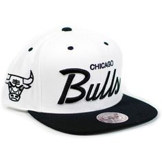 f2a7e912 Chicago Bulls Mitchell & Ness White/Black Script 2 Tone Snapback Hat  Mitchell & Ness. $25.99.