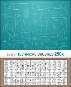 Technical Brushes  Technological Photoshop brushes.