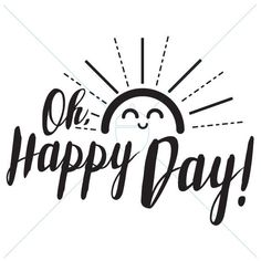 Oh, Happy Day! Spread a little sunshine with this .svg file. It is perfect to use with your Cricuit or Silhouette. Cut out some adhesive vinyl to add some cheery words on your wall or embellish a onesie for those tiny rays of sunshine in your life! Download includes both a .jpeg and .svg file.