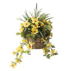 Jardinière Suspendue Hibiscus jaunes 18                              …