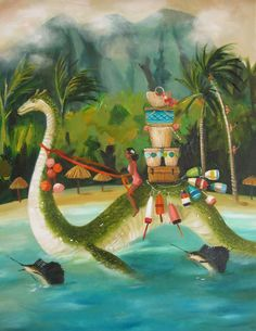 """""""South Seas Serpent"""" by Janet Hill"""