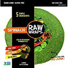 Amazon.com: spinach raw wraps