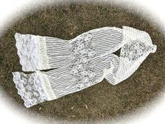 Izzy Roo  Rustic Mixed Lace Scarf Extra Long Sheer Bridal Scraps Shabby Chic Scarf Sash by IzzyRoo on Etsy
