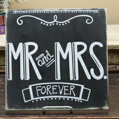 Mr. & Mrs. Forever Black Sign - love this for a wedding gift!  Also, have it in tan. #GloryHaus