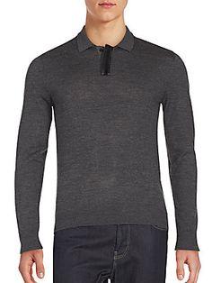 The Kooples Spread Collar Long Sleeve T-Shirt -