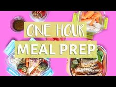 EASY MEAL PREP WITH ME! | ONE HOUR MEAL PREP - YouTube