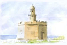 Castell de Sant Nicolau. Ciutadella, Menorca. Menorca, Sketch Pad, Days Out, Statue Of Liberty, Sketches, Travel, Outdoor, Painting, Art