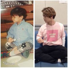 Johnny rein acting his childhood picture. Just as cute as always! Sistema Solar, Nct 127 Johnny, Winwin, Taeyong, Jaehyun, Nct Dream, K Idols, Baby Pictures, Boy Bands