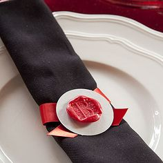 Wax seals used for dinner napkins