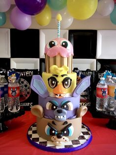 Five Nights At Freddy's Birthday Cake from a Five Nights At Freddy's Birthday Party on Kara's Party Ideas | KarasPartyIdeas.com (19)