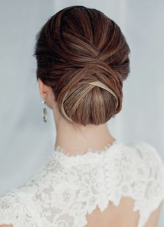 classic wedding brial updo hairstyle ideas