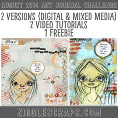 August 2014 Art Journal Video Tutorials