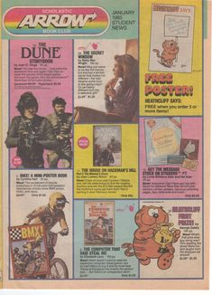 Scholastic flyer. It was so exciting when you got this at school and ordered books. The best day was when they finally arrived!