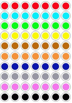 Colores plantillas tapones Preschool Learning Activities, Infant Activities, Preschool Activities, Kids Learning, All About Me Preschool, Learning Through Play, Kids Education, Art For Kids, Numicon
