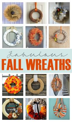 12 DIY Fall Wreaths! So many gorgeous options to create your own fall decor to dress up your home. #fall