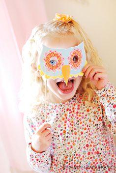 Máscara de búho para imprimir gratis