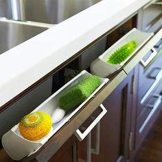 Tilt Out Sponge Drawer, Transitional, kitchen, Anne Hepfer Designs