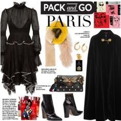 How to Style a Black Dress and Cape for Winter Travel to Paris