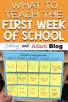 The lessons you teach at the beginning of the year are crucial for laying the foundation and setting the tone for the rest of the school year During the first week, your schedule should be a mix of teaching procedures and expectations as well as b - f 1st Day Of School, Beginning Of The School Year, Middle School, High School, School School, Back To School Ideas For Teachers, New Teachers, Primary School, School Stuff