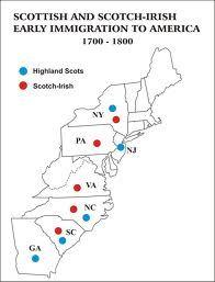 Scottish and Scots-Irish Early Immigration to America #genealogy #maps