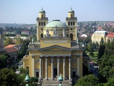 Eger Basilica - the sencond largest roman catholic church in Hungary, my aunt is buried in the catacombs