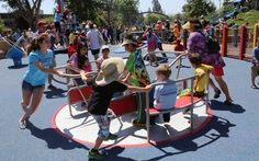 Where can a blind child, a child in a wheelchair, a sister with autism or brother with Down syndrome play with other families equally, and be part of their community? The Magical Bridge Playground.