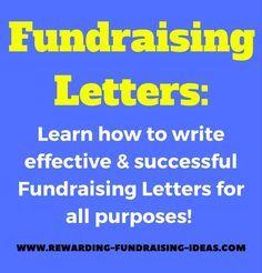 RewardingFundraisingIdeasCom Fundraising Letter Tips Use