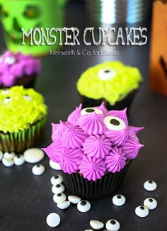 Monster Cupcakes by