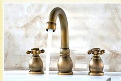 BL Modern retro Eight-inch three-hole lavatory faucet hot and cold continental antique vintage bathroom three piece set Sink faucet