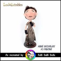 anne hathaway as fantine in les miserables peg doll by fabi dabi dolls available on our ebay store now Fantine Les Miserables, Anne Hathaway, Teddy Bear, Dolls, Store, Clothes, Ebay, Tall Clothing, Puppet