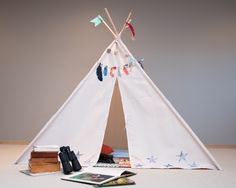 DIY Teepee Kit by Jen McDermott for We R Memory Keepers #DIYteepee #targetcom @mrsjenmcd @wermemorykeepers Diy Teepee, We R Memory Keepers, Tassel Garland, Get Excited, Perfect Place, Toddler Bed, Memories, Kit, Projects