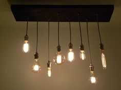 Chrome and Chevron Reclaimed Wood Edison by HangoutLighting